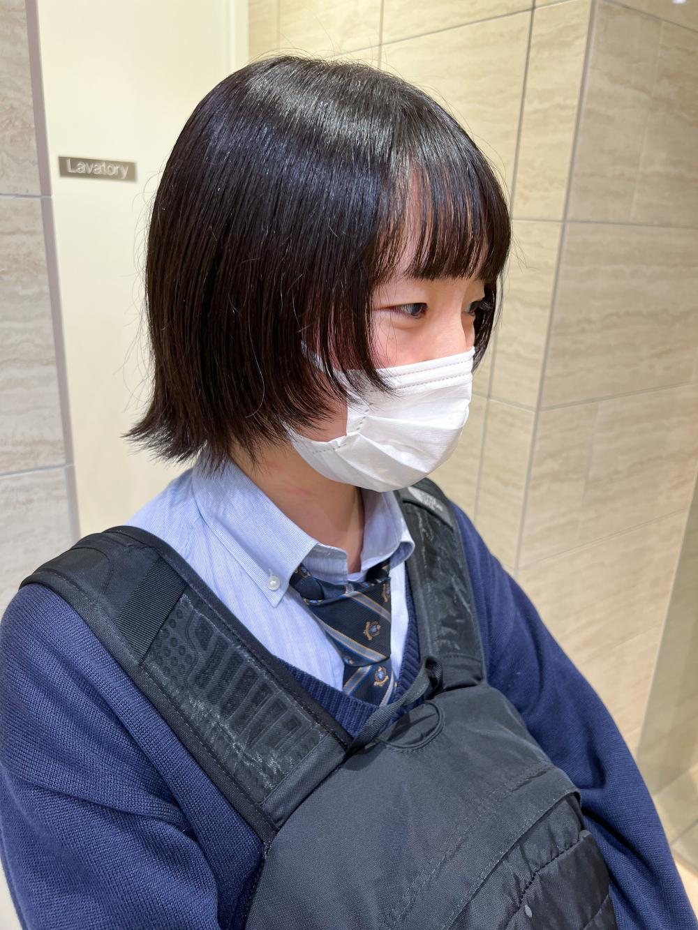 ボブウルフカット/初めてウルフカット/naomi