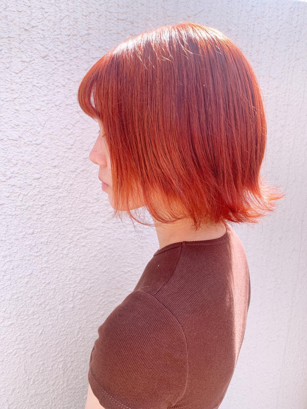 Lia&汐見悠佑 大人かわいいボブorangeカラー