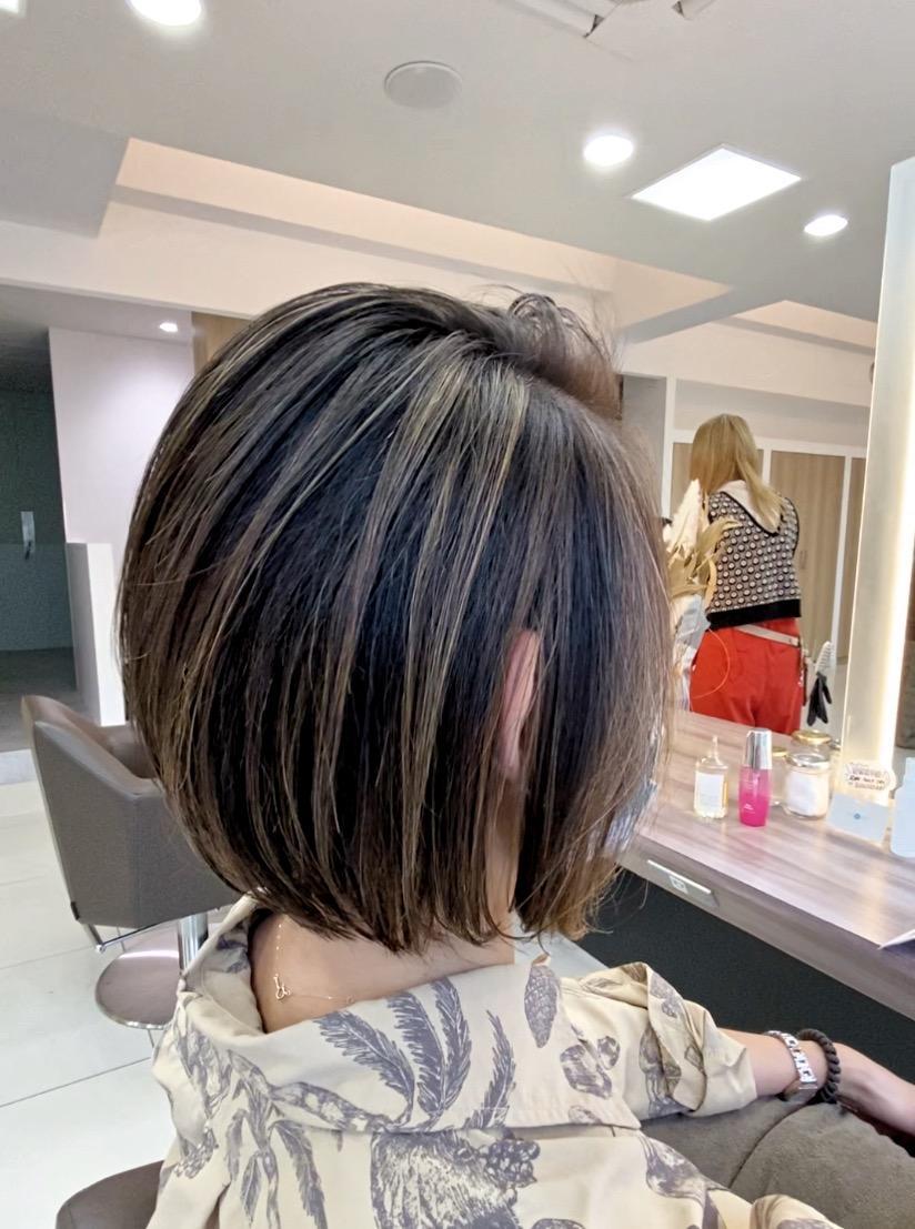 白髪ぼかしハイライト★髪質改善カラー