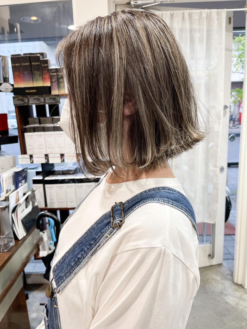 ★グレーヘアベースのオリジナルハイライト★