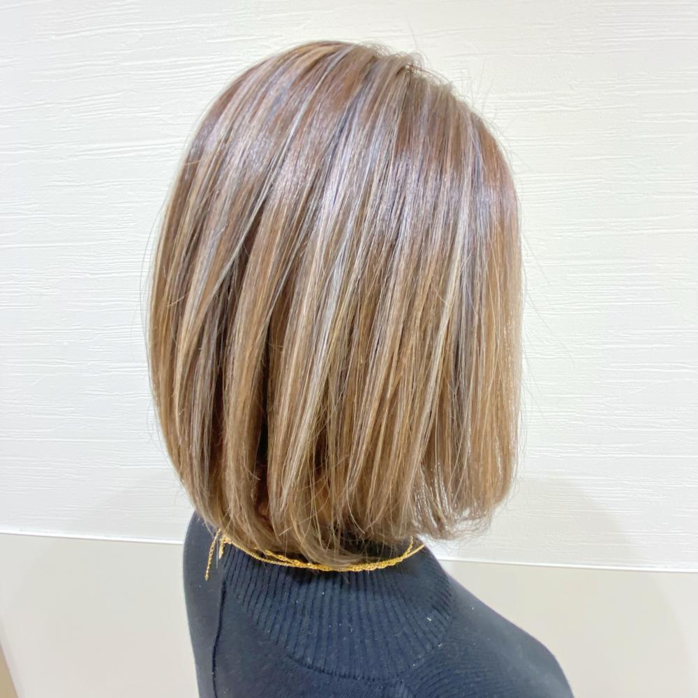 髪質改善カラー×白髪ぼかしハイライト
